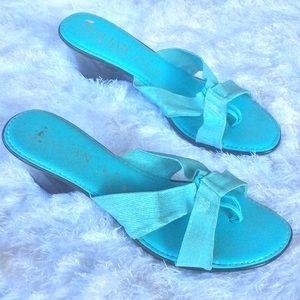 Italian Shoemaker Blue Sandals